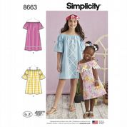 8663 Simplicity Pattern: Girls' Dresses